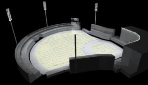 led stadium lighting simulation