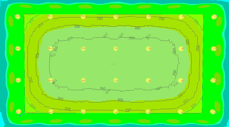 cc DIALux lighting simulation